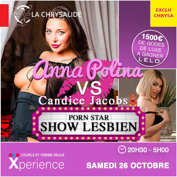 Show lesbien Anna Polina VS Candice Jacobs