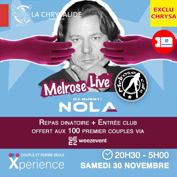 Melrose Café Live - Offert aux 100ers couples