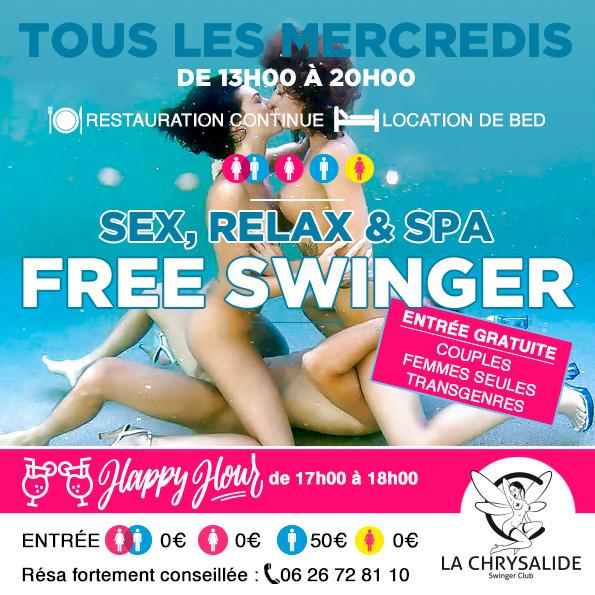 Mercredi sex relax & spa free swinger
