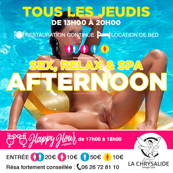Jeudi sex relax & spa Afternoon