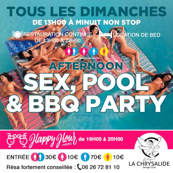Dimanche sex Pool & BBQ party